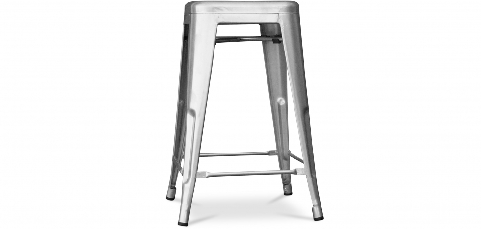 Buy Retro Tolix Stool 60cm Pauchard Style - Metal Steel 99933183 - in the UK